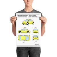 poster - Affiche de Brevet - Volkswagen New Bettle - affiche de brevet volkswagen new bettle - patent poster volkswagen new bettle|stikeo.com
