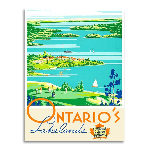 Affiche vintage - Ontario - National Canadian Railsway
