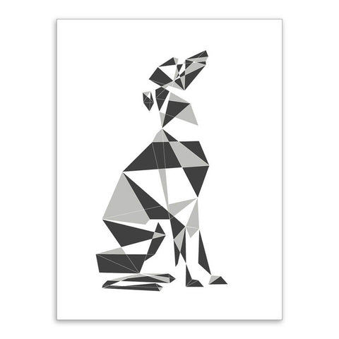 """Abstract Geometric Greyhound"" 