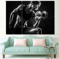 tableau - Fitness Motivation -  Sexy Dumbbells - Fitness Motivation -  Sexy Dumbbells|stikeo.com