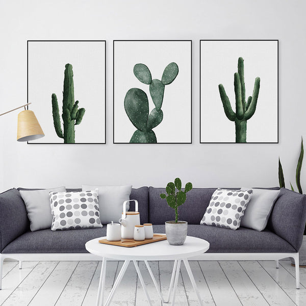 Watercolor Cactus Collection | poster | STIKEO.COM