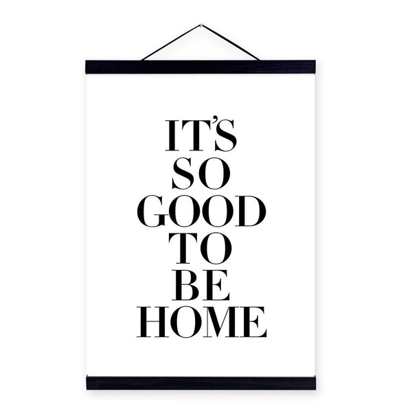 """ It's so good to be home "" 