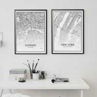 poster - Cartographie de ville - Paris - Londres - New york - Cartographie de ville - Paris - Londres - New york | poster | STIKEO.COM|stikeo.com