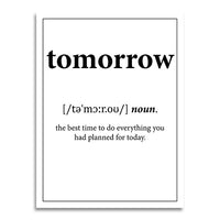 poster - Définition - Tomorrow - Définition - Tomorrow|stikeo.com