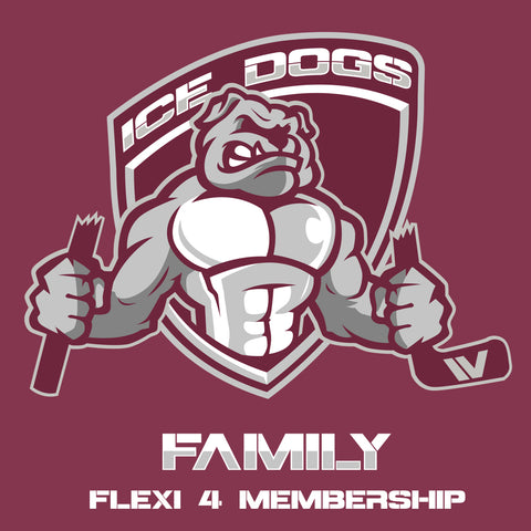 2018 FAMILY FLEXI 4 Sydney Ice Dogs Membership Pass
