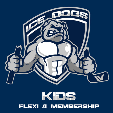 2018 KIDS FLEXI 4 Ice Dogs Membership Pass