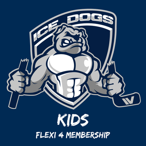 2020 KIDS FLEXI 4 Ice Dogs Membership Pass