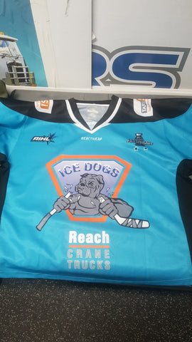 Vintage Ice Dogs Jersey Large