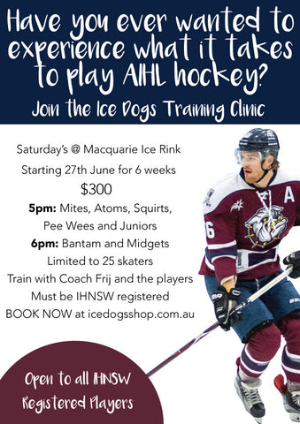 Training with the Sydney Ice Dogs - PeeWee and Under