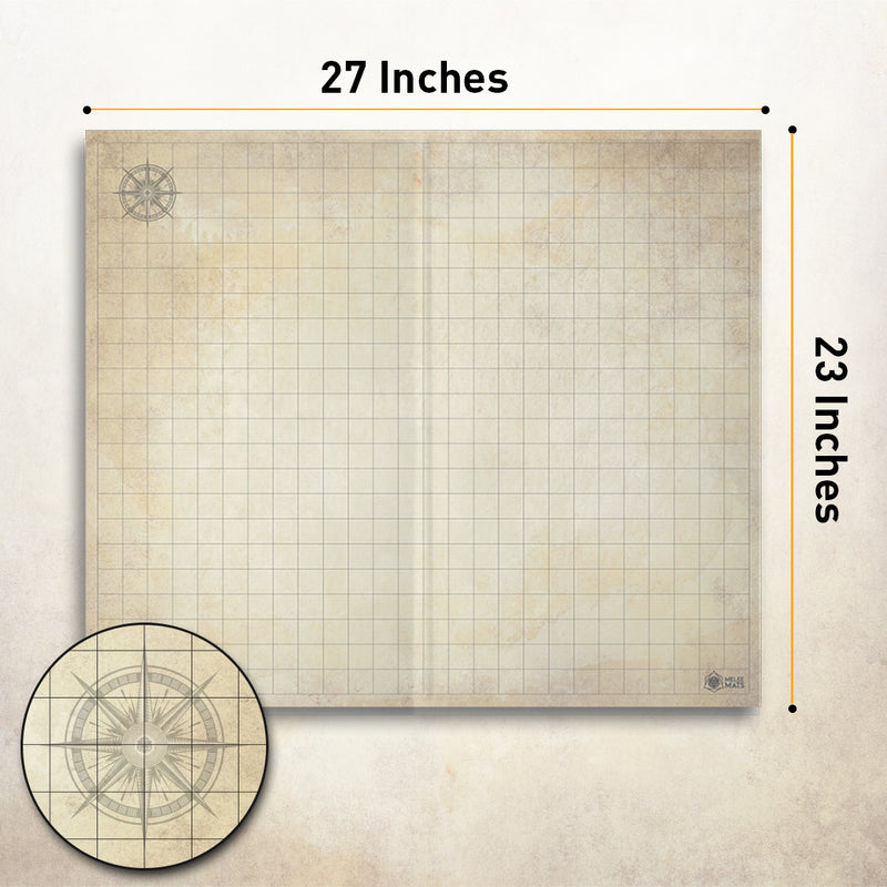 "Distressed - The Original Battle Grid Game Board - Double Sided - 23""x27"""