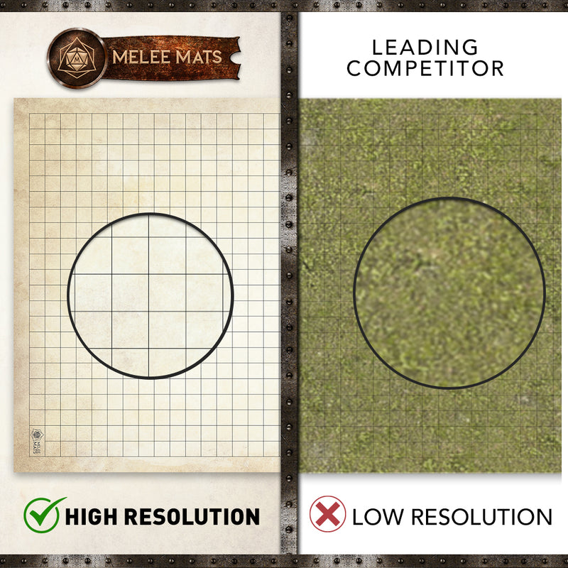 "Distressed-Cobblestone - 2 Pack Double Sided Dry Erase Grid Mat -  24""x36"""