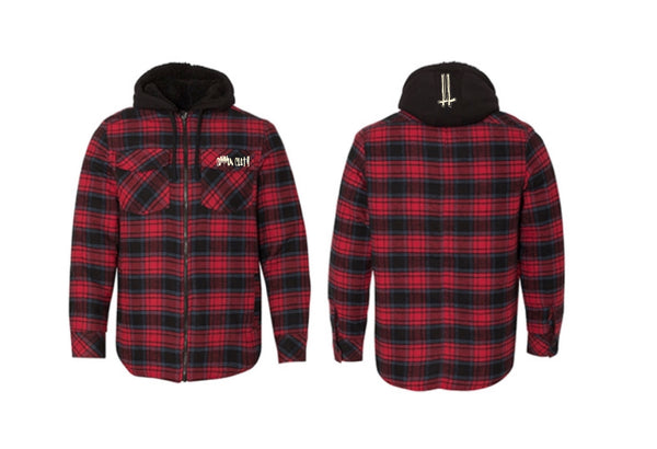 ugly as sin hooded flannel