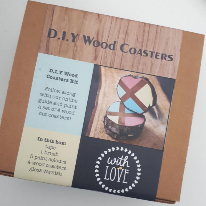 The With Love Shop DIY Wooden Coasters Kit
