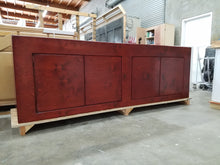 Sydney stand in Antique Cherry stain