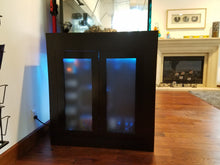 Steel stand for reef aquarium with electric panel