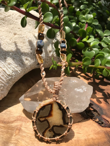 Septarian Necklace