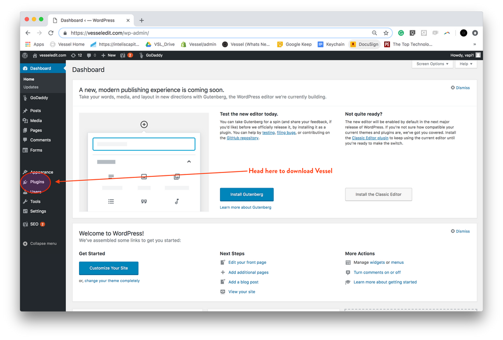 WordPress: Getting Started – Vesselapp co