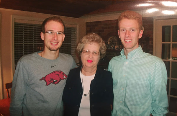 Austin and Quinn with their grandma
