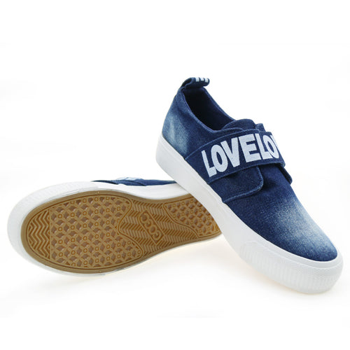 LOVE Denim Platform Loafers