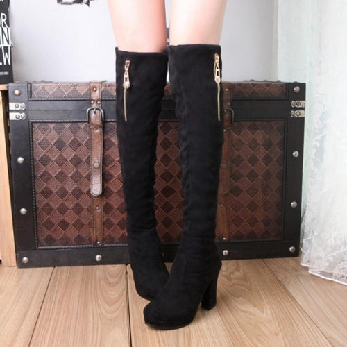 MARTIN over the knee Boots