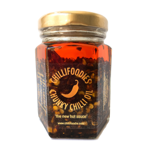 It's here! Chillifoodies chunky chilli oil now available online! 🌶👌🏼