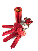 chilli flake keychain waterproof containers (2 containers)