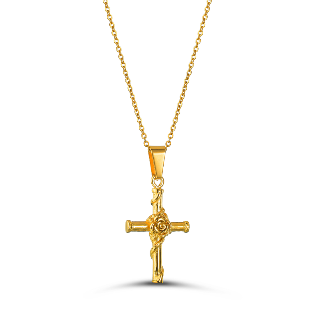 Golden Rose Cross