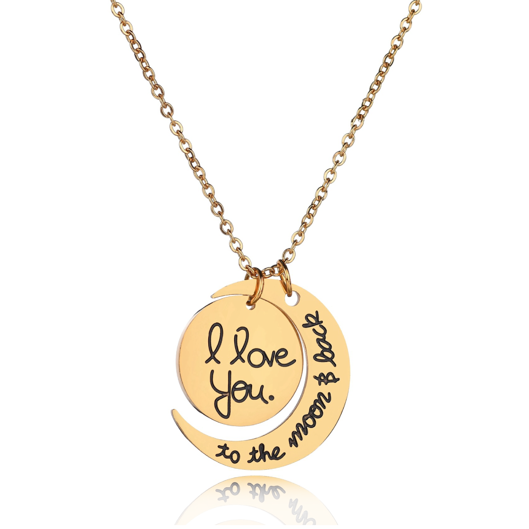 Love You To The Moon And Back - Gold