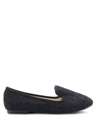 Laced Loafer Flats