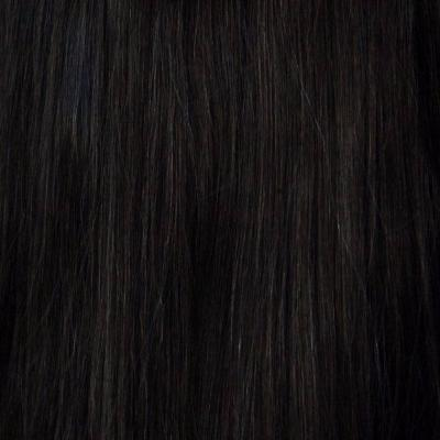 100% human Remy hair, 120 grams Jet black color #1