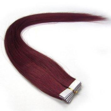 Burgundy Tape- in Extensions - Glam Up Hair & Beauty