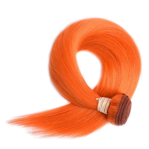 Orange Remy Bundles | Straight - Glam Up Hair & Beauty