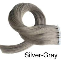 Silver- Gray Tape-in Extensions - Glam Up Hair & Beauty
