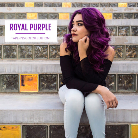 Purple Tape-in Extensions - Glam Up Hair & Beauty