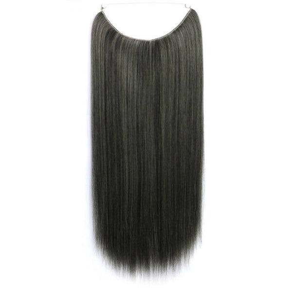 Dark Brown w Platinum Blond- Celebrity Flip-in Halo Extensions