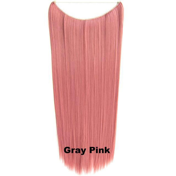 Gray Pink - Celebrity Flip-in Halo Extensions - Glam Up Hair & Beauty