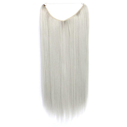 Silver Ice - Celebrity Flip-in Halo Extensions - Glam Up Hair & Beauty