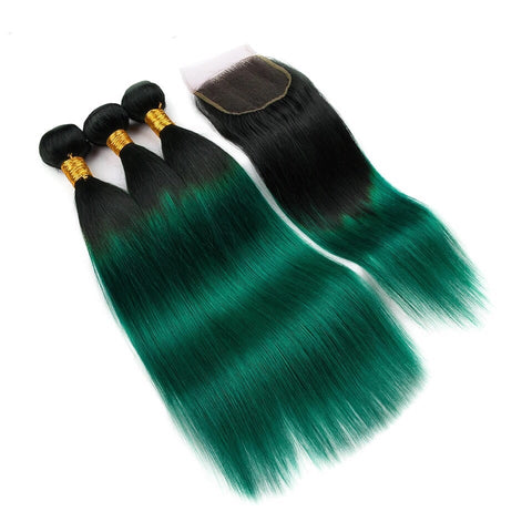 Emerald Green Remy Bundles - Glam Up Hair & Beauty