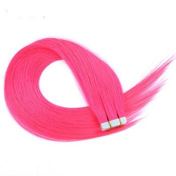 Pink Tape- in Extensions - Glam Up Hair & Beauty
