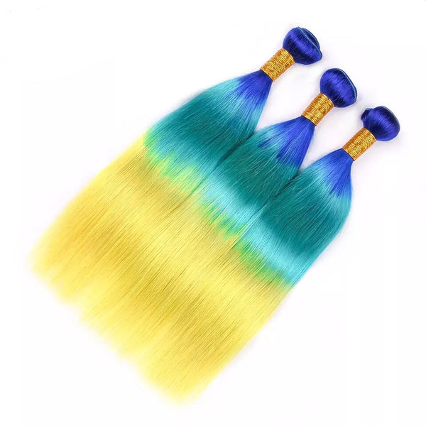 Yellow Bombshell Ombre - Indian Remy Straight - Glam Up Hair & Beauty