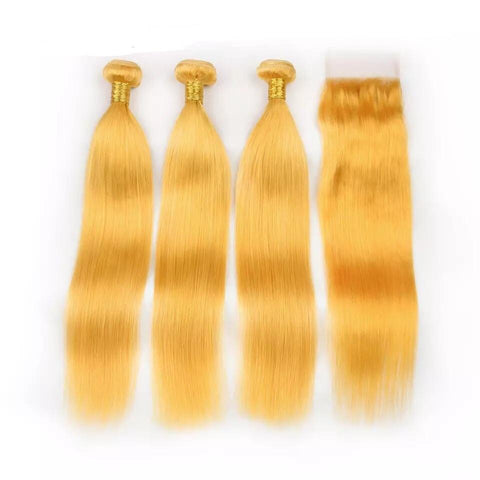Yellow Remy Bundles - Bombshell Edition - Glam Up Hair & Beauty