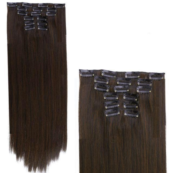 Dark Brown w Medium Auburn - Glam Up Hair & Beauty