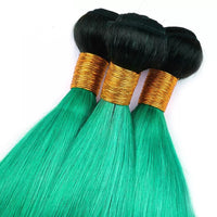Bombshell Green Ombre-  Remy Bundles - Glam Up Hair & Beauty