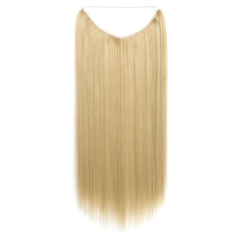 Light Sandy Blond - Celebrity Flip-in Halo Extensions - Glam Up Hair & Beauty
