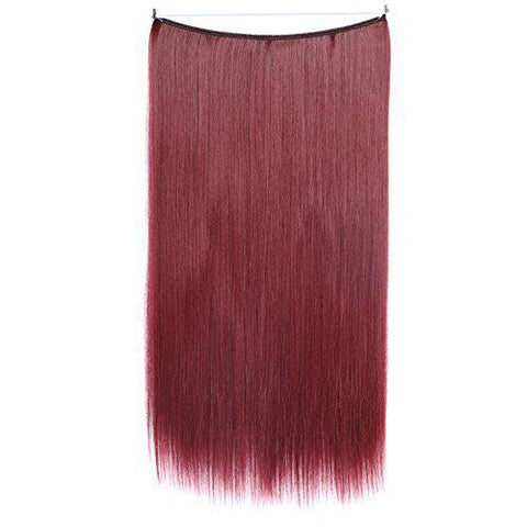Burgandy- Celebrity Flip-in Halo Extensions - Glam Up Hair & Beauty