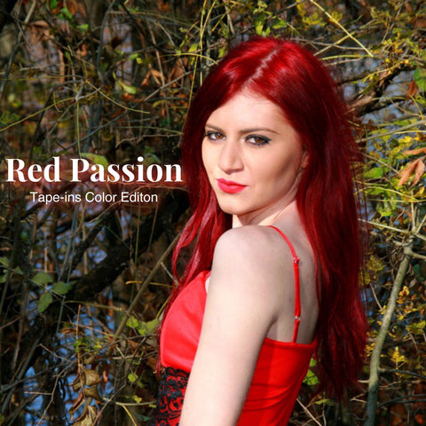 Red Tape-in Extensions - Glam Up Hair & Beauty