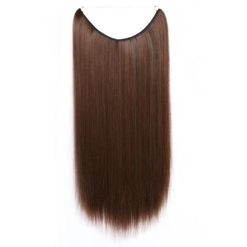 Medium Chocolate Brown-Celebrity Flip-in Halo Extensions - Glam Up Hair & Beauty