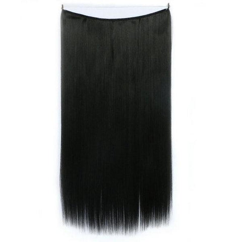 Jet Black- Celebrity Flip-in Halo Extensions - Glam Up Hair & Beauty