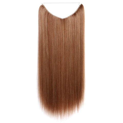 Medium Auburn W Blond - Celebrity Flip-in Halo Extensions - Glam Up Hair & Beauty