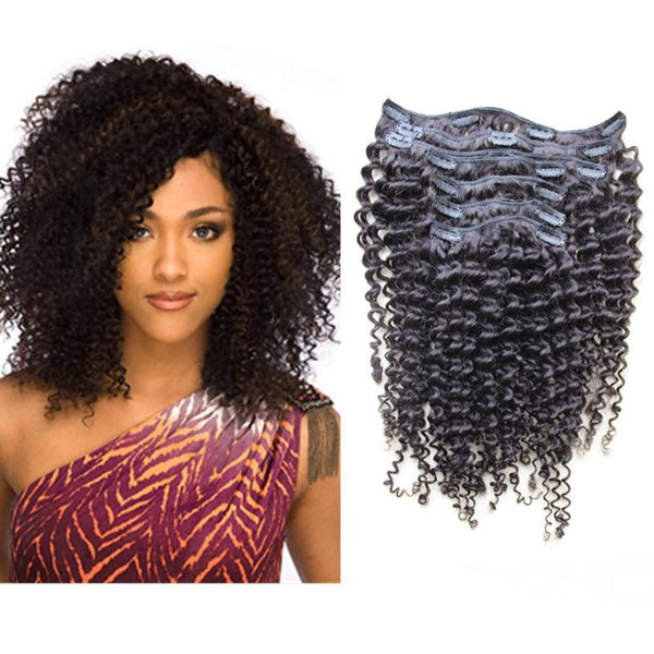 Natural Curly Clip-ins (100 Grams) - Glam Up Hair & Beauty